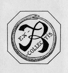 Description: Features the monogram 'TR' surrounded by circular serpent border. Unsigned.   Format: 2 print, b&w, 6 x 5 cm.   Source: Pratt Institute Libraries