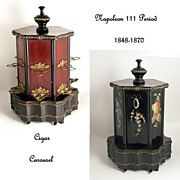 French Antique Cigar Box Carousel Japanese Style Hexagonal Music Box from Partner Antiques .great gift idea for the man who has everything:) Shell, Cigar Boxes, Charity Shop, Japanese Style, Popcorn Maker, Carousel, French Antiques, Cigars, Great Gifts