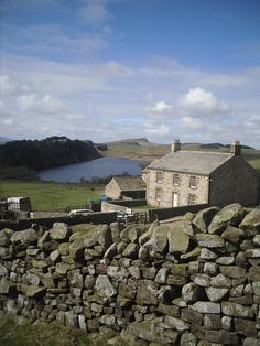 Hadrian's wall 004 by Graham Bingham, via Flickr, Hadrian's wall running right past a stone cottage, UK The wall is 84 miles long so I am not sure where this part is, lovely though!