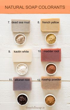 Want to know more about natural soap colourants? Everything you need to know about colouring your homemade soap naturally. Shampoo Diy, Diy Beauté, Savon Soap, Soap Colorants, Glycerin Soap, Soap Making Supplies, Homemade Soap Recipes, Homemade Facials, Organic Soap