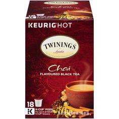 Twinings of London Chai Tea Keurig K-Cups, 18 Count Twinings Tea, K Cups, Best Tea, How To Make Tea, Keurig, Chai, Cinnamon, Spice, Registered Trademark