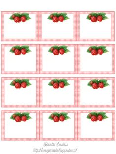 Printable Labels, Printable Cards, Printables, Soap Labels, Canning Labels, Jam Label, Raspberry, Strawberry, Miniature Kitchen