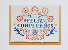 Feliz Cumpleanos - Hand Lettered Greeting Card