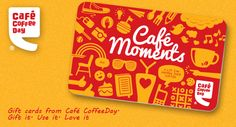 """Pre-paid cards. For example, """"Cafe Coffee Day introduces 'Cafe Moments' pre paid cards. Convenient and cashless transactions over coffee and conversations""""."""