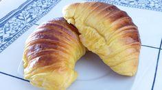 Croissants de pâte brioche (recette portugaise)