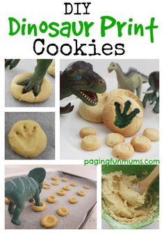DIY Dinosaur Print Cookies. As much fun to make as they are to eat! Great for parties, playdates or a fun after school snack!