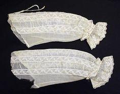 1850s cotton undersleeves, British