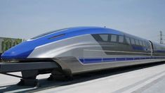 china has unveiled a prototype for a high-speed magnetic-levitation bullet train capable of hitting speeds of per hour. Beijing, Trains, Magnetic Levitation, High Speed Rail, New China, Speed Training, Rolling Stock, Qingdao, China Travel