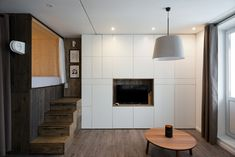 """Alireza Nemati lives in Moscow, where he and his wife live in a tiny apartment—just 35 square meters (about 375 square feet). Fortunately Nemati is a product designer, so, design to the rescue! """"[My] main task,"""" Nemati writes, """"was to create a comfortable open space plan with enough area for"""