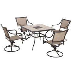 Hampton Bay Andrews 5-Piece Patio Dining Set-T05F2U0Q0056R - The Home Depot