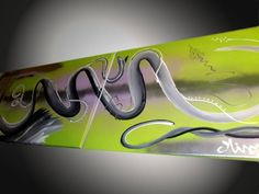 Tableau Worms Silvered Worms, Neon Signs, Gift Ideas, Green, Canvas