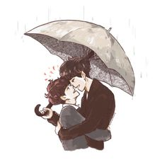 abassonthewayart: Then Came You - Baekyeol's last scene under the rain ✨ ㅍ✨