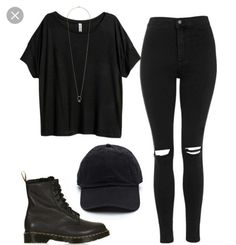 Pues lo que dice el título; Cute Emo Outfits, Casual School Outfits, Teenage Girl Outfits, Teenager Outfits, Swag Outfits, Mode Outfits, Retro Outfits, Simple Outfits, Outfits For Teens