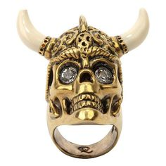 A.Mcqueen Warrior Ring Gold (4.085 ARS) ❤ liked on Polyvore featuring jewelry, rings, accessories, alexander mcqueen, women, swarovski crystal jewelry, ivory jewelry, celtic ring, yellow gold rings and gold celtic rings