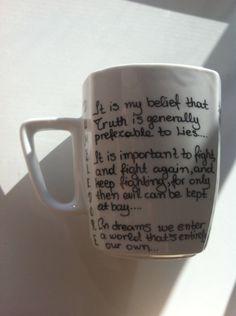 Items similar to Harry Potter Mug with Albus Dumbledore quotes and Gift Box on Etsy Harry Potter Style, Harry Potter Mugs, Dumbledore Quotes, Diy Sharpie Mug, Hogwarts, Harry Harry, Crafty, Holi, Handmade Gifts