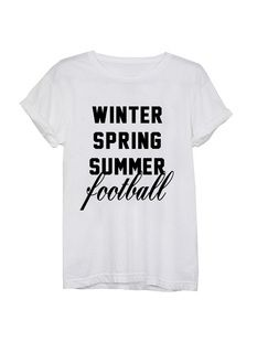 Winter Spring Summer Football, Graphic tees, Graphic tshirts, Graphic shirts, Football season, Football season