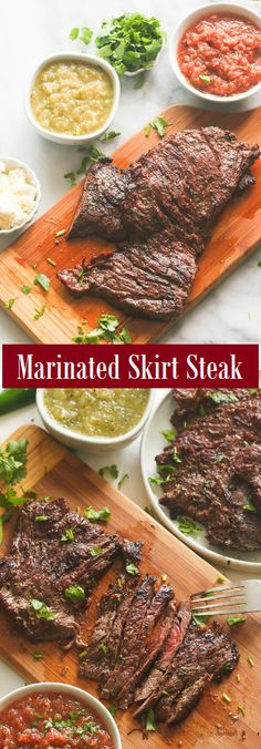 Marinated Skirt Steak by , Steak Recipes Grill Skirt Steak in a citrus-y, slightly spicy, and packs a bunch of Mexican flavors. Easy Asparagus Recipes, Easy Pasta Recipes, Easy Delicious Recipes, Easy Chicken Recipes, Beef Recipes, Healthy Recipes, Vegetarian Recipes, Steaks, Party
