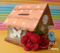 House with E&C Flowers and Buttons