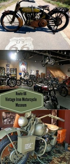 "Take a trip down the ""Mother Road"" to the Route 66 Vintage Iron Motorcycle Museum! This museum is the ultimate stop for lovers of vintage motorcycles and memorabilia! It houses dozens of bikes including a 1917 Harley Davidson, a 1949 Indian Scout, and a 1957 Ariel just to name a few! Explore the fascinating museum and stop by the gift shop to take home something to remember your trip by!"