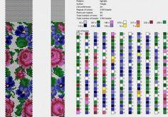 Схемы жгутов из бисера. Яркие цветы
