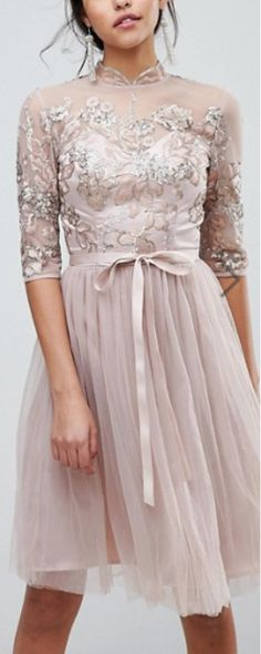 lace bodice belted tulle dress