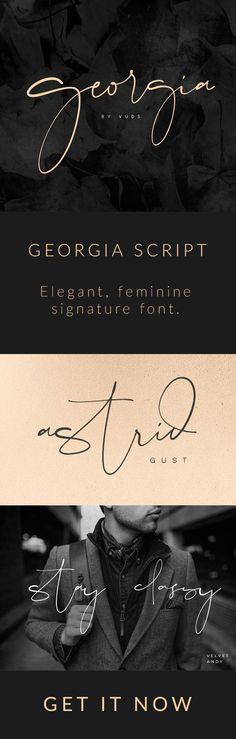 Georgia Script - A p