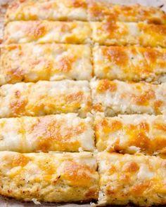 New Cheese Sticks Appetizers Cauliflower Breadsticks Ideas Cauliflower Cheese Sticks, Cauliflower Breadsticks, Cheesy Cauliflower, Cauliflower Crust, Cauliflower Casserole, Cauliflower Recipes, Breadsticks Recipe, Purple Cauliflower Recipe, Brocolli Recipes