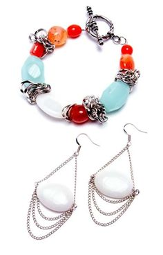 Alexis Bracelet And Earring Set - http://www.primabead.com