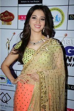 Tamanna Bhatia In Arpita Mehta Saree South Indian Actress Photo, Indian Actress Photos, Beautiful Indian Actress, Bollywood Fashion, Bollywood Actress, Tamil Actress, Indian Dresses, Indian Outfits, Indische Sarees