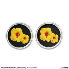 Shop Yellow Hibiscus Cufflinks created by Personalize it with photos & text or purchase as is! Yellow Hibiscus, Hibiscus Flowers, Designer Cufflinks, Waterproof Coat, Silver Bullet, Stylish Men, Stylish Man