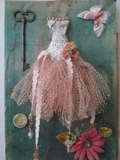 ooak art dress by ooakfairyandmore on Etsy