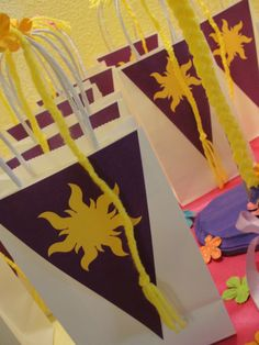 Tangled Party Favors #tangled #partyfavors