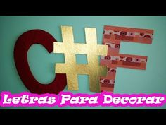 Letras para Decorar DIY - YouTube