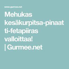 Mehukas kesäkurpitsa-pinaatti-fetapiiras valloittaa!  Gurmee.net