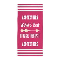 Physical Therapist Gift Pink Personali Beach Towel