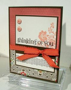 """Stampin' Up! (Design by Connie Collins) using stamp set called """"Fresh Vintage"""" & """"Everyday Enchantment"""" DSP. Vintage Stamps, Vintage Cards, Vintage Birthday Cards, Happy Birthday Greetings, Mothers Day Cards, Sympathy Cards, Paper Cards, Scrapbook Cards, Homemade Cards"""