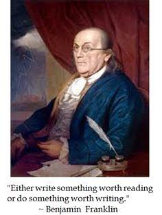 Ben Franklin on writing