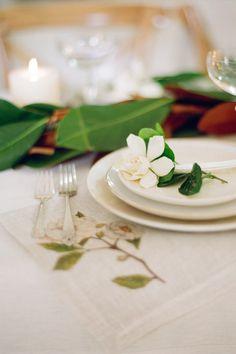 Gardenia place setting - white loft studio