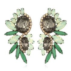 {mint crush}  Mint Crystal Cluster Earrings