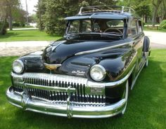 1948 DeSoto Suburban. My grandmother drove one of these. They were huge inside. Big old tanks.