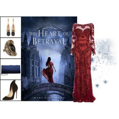 Book Look: The Heart of Betrayal (The Remnant Chronicles #2) By Mary E. Pearson by xmikky on Polyvore featuring Zuhair Murad, Christian Louboutin, Menbur, Oscar de la Renta and Accessorize