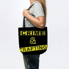 True crime and Crafting - Crafting - Tote   TeePublic Best Leggings, True Crime, Cute Gifts, Crafts, Beautiful Gifts, Manualidades, Handmade Crafts, Craft, Arts And Crafts