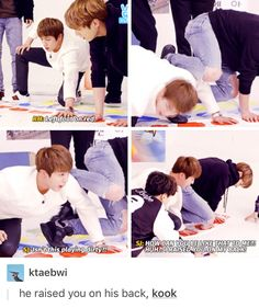 Poor Jin :3 Kookie walks all over the other members. That's like the rite of passion of every maknae lol