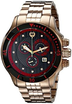 Low Prices !! Best Deal Brillier Men 13-05 Fortress Diamond-Accented elevated Gold-Plated Watch Link Bracelet top Deal 88 Rue du Rhone Men 87WA130010 8 Origin Analog Display online | Mens Luxury Watch Reviews