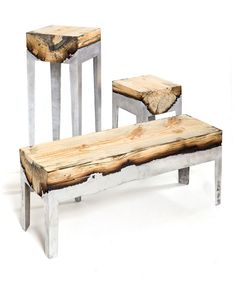 Inspiration: Wood Casting (Wood, Aluminum) by Hilla Shamia.  Visit Design Inspirations: http://inspirations.caesarstone.com/