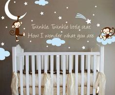 Star Vinyl Wall Decal  Silver Stars Star Wall Decal By Jesabi - Vinyl wall decals baby room