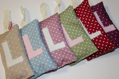 initialled lavender bags