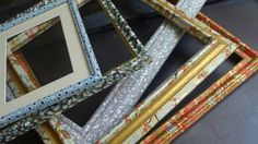 Wooden frames in Japanese paper
