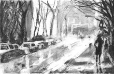 Charcoal, Street, Outdoor, Dibujo, Pintura, Art Studios, Doodles, Outdoors, Outdoor Games