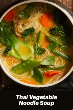 Tasty Vegetarian Recipes, Vegan Soups, Healthy Recipes, Whole Food Recipes, Soup Recipes, Diet Recipes, Vegetable Noodle Soup, Going Vegan, Soups And Stews